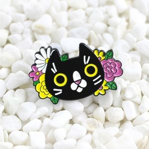 Jewelry - Flower Cat Enamel Pin